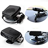Pevor Portable Car Heater Ceramic Heating Cooling Heater 12V Fan Defroster Demister Convenient Cooler-Black