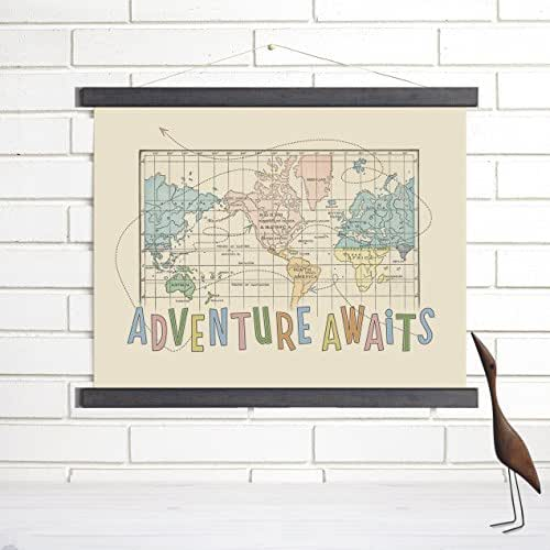 Amazon adventure awaits wood bound canvas vintage map art imaginenations by wendy gold gumiabroncs Gallery