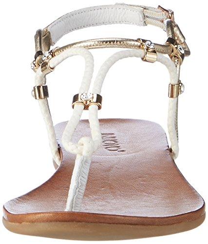 Femme gold Tongs White Blanc 7129 Inuovo 16780413 xnTO6E4