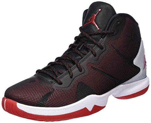 Nike Herren Jordan Super.fly 4 Basketballschuhe Schwarz (nero / Palestra Rosso-bianco-infrrd 23)