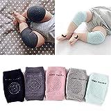 #6: 5 Pairs Baby Crawling Anti-Slip Knee Pads, Unisex Baby Toddlers Kneepads (Multiple colors)