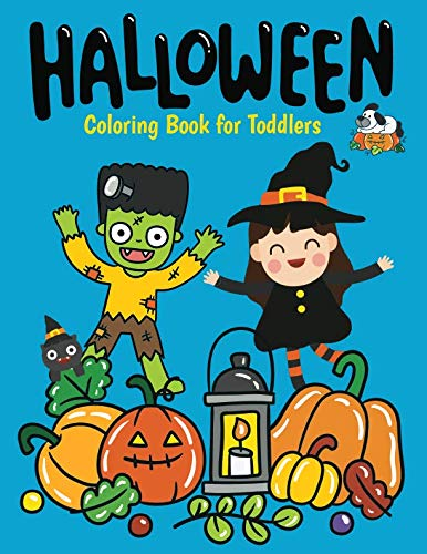 Halloween Coloring Book: Cute Ghosts, Pumpkins Simple Designs for Toddlers ()