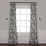 HPD Half Price Drapes PRCT-D09D-84 Edina Printed Cotton Curtain, 50'' x 84'', Grey