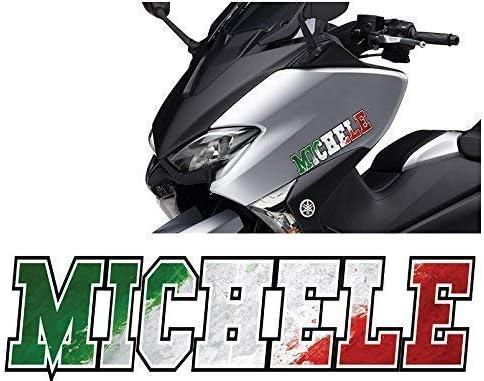 Bandiera Italiana 10 15 20 25 30 cm KIT Personalizzato 10 x 3 cm Adesivi Nome 2 pezzi MICHELE