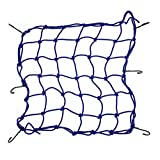 BININBOX Cargo Net With 6 Durable Hooks Nylon Large Stretches Adjustable Mesh Elastic Lightweight Bungee Cord 36 Grids (Blue)