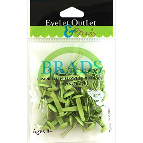 - EYELET OUTLET Round Brads (70 Pack), 8mm, Pastel Green