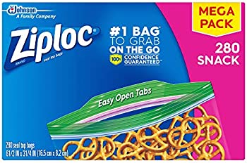 280-Count Ziploc Seal Top Snack Bags with Easy Open Tabs