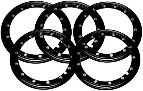 BILLET4X4 Simulated Beadlock Rings 15 inch Black Set of 4