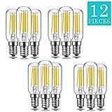 60 watt tubular bulb - FreedomDesign Dimmable LED Candelabra Light Bulb, Warm White 2700K, 4W, 400lm, E12 Candelabra Base, T25 Tubular Shape, 60W Incandescent Replacement (12 Pack)