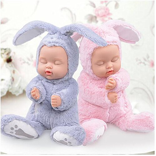 BIEBER Baby Child Gift Lifelike Realistic Reborn Sleeping Baby Doll Premium Soft Plush Toy (Pink) by BIEBER (Image #5)
