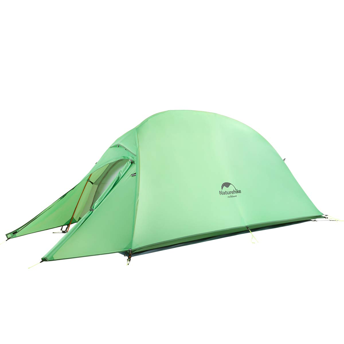 Naturehike Cloud up 1 Person Backpacking Tent Lightweight Camping Hiking Dome Tent for 1 Man (210T Green) by Naturehike