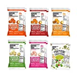 Shrewd Food Keto Protein Crisps VARIETY 12 PACK   High Protein, Low Carb, Gluten Free Snacks   No Artificial Flavors   Soy Free, Peanut Free