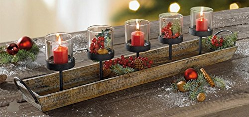 Rustic Candle Centerpiece Holders Product product image