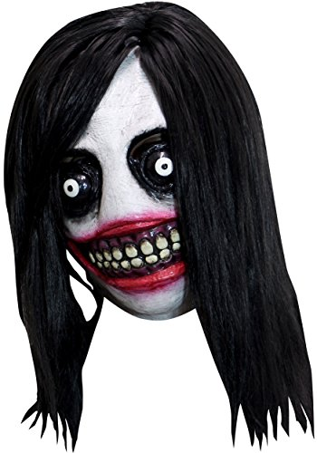 Jeff The Killer Jeffrey Woods Adult Latex Mask Creepypasta Psychopath Murderer - Costume Jeff The Killer