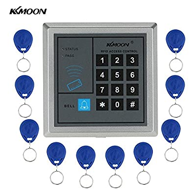 Electronic RFID Proximity Entry Door Lock Access Control System with 10 Key Fobs Home Offices Security System Ship from USA