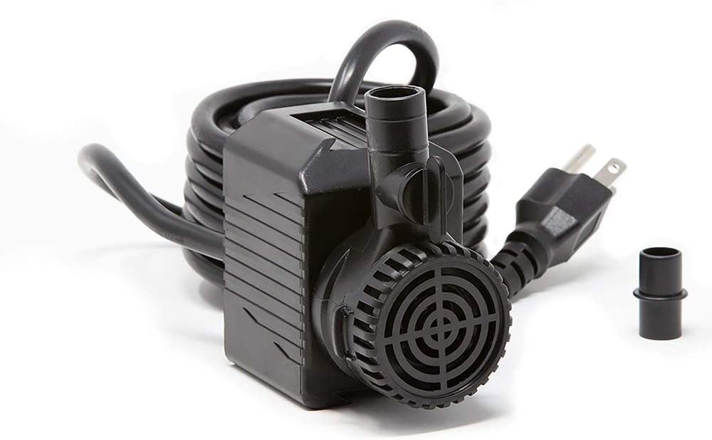 Beckett Corporation 280 GPH Submersible Pond Pump - Water Pump for Indoor/Outdoor Ponds, Fountains, Fish Tanks, Aquariums, and Waterfalls - 6.5' Max Fountain Height, Black