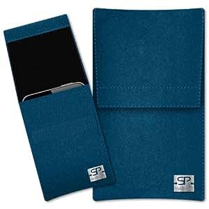 SIMON PIKE Cáscara Funda de móvil Sidney 1 azul petróleo Samsung Galaxy Young Fieltro de lana