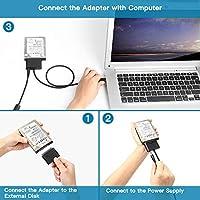 Adaptador convertidor de USB C a SATA, compatible con discos duros ...