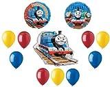 LoonBalloon THOMAS the TANK Train ENGINE 12 Pc Birthday Party Mylar Latex Balloons Kit SET N
