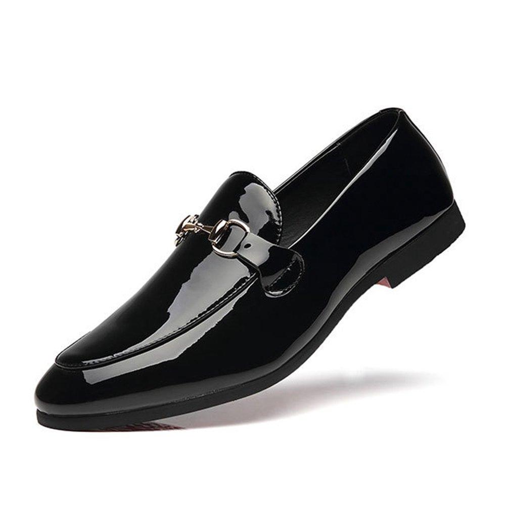 09717644e80d36 Homme Chaussure de Cuir de Conduite Souple Mocassin Chaussure de Ville  Casual sans Lacet Basse Plate Résistance à lusure