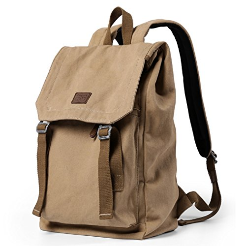 Canvas Backpack, Laptop Outdoor Backpack, COOFIT Travel Rucksack Camping Hiking Daypack for Men & Women