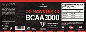 Monster Bcaa 3000 - 120 Tablets - Powerfoods - Concentrated Aminoacid For Muscle Recovery 4