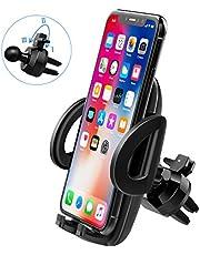 Mpow Supporto Smartphone per Auto Universale [Garanzia a Vita] con 3 Livelli, Rotazione di 360 Gradi, Regolabile Tramite Morsetto, per Cellulari Come iPhone, Samsung Galaxy, Huawei, Xiaomi, ECC