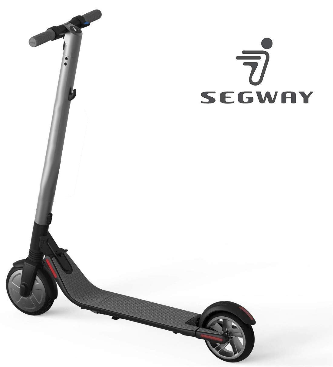 Segway Ninebot KickScooter ES2 Pro Electric Kick Scooter for Adults & Kids - Mobility Folding e-Scooter Upgraded Motor Power (Silver)