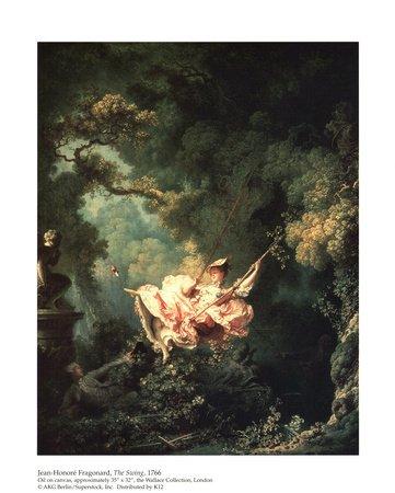The Swing Art Poster Print By Jean Honoré Fragonard 8x10 Amazonco
