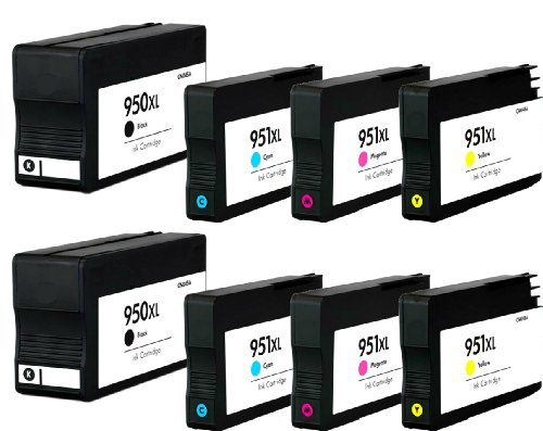 HouseOfToners Remanufactured Ink Cartridge Replacement for HP 950XL & 951XL (2 Black, 2 Cyan, 2 Magenta, 2 Yellow, 8-Pack)