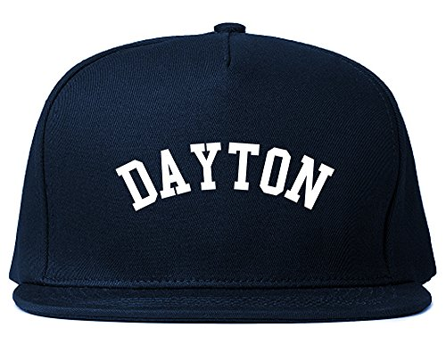 Dayton Ohio Snapback Hat Cap Navy Blue