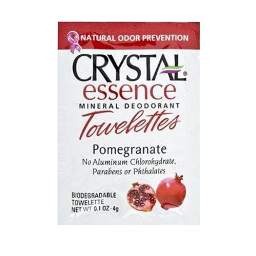 Crystal Essence Mineral Deodorant Towelette Pomegranate