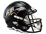 NFL Baltimore Ravens Riddell Full Size Replica Speed Helmet, Medium, Purple
