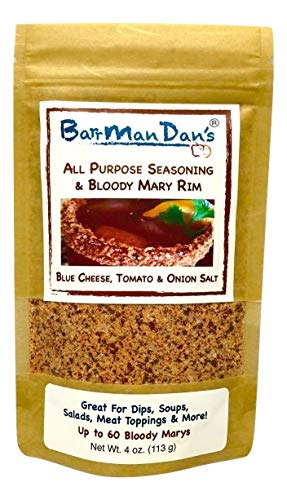 (BarrManDan's All Purpose Seasoning & Bloody Mary Rim (Blue Cheese, Tomato & Onion Salt) 4 oz.)