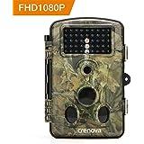 """Crenova Caméra de Chasse 12 MP 1080P HD Grand Angle 120° 20m Vision Nocturne Infrarouge Waterproof 2.4"""" Affichage LCD avec 42 LEDs IR Basse Luminosité Caméra de Surveillance"""