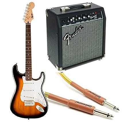 Fender Squier Bullet Stratocaster Sunburst con Tremolo + Frontman 10G + Cable