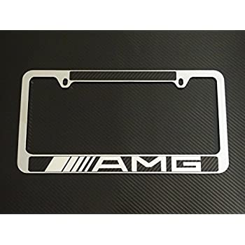 Amazon Com Mercedes Benz Amg Logo Chrome License Plate