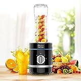 Personal Blender, Doctor Hetzner 300W High-Speed Smoothies Maker Juice Blender with a 20oz/600ml Portable Sport Bottle BPA-free Tritan Take-along Jar, Black