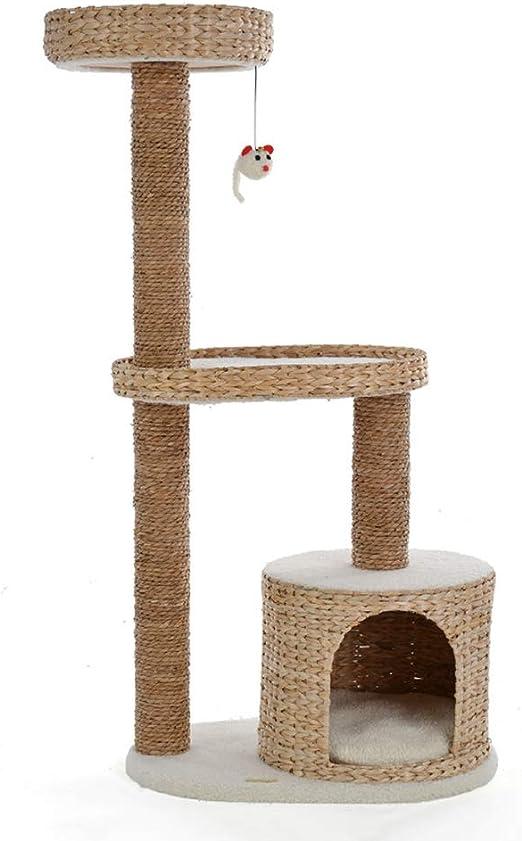 Árbol para Gato Rascador para Gatos Bobinado De Cuerda De Pupa Natural 73 * 40 * 122 Cm Arbol para Arañar Poste Centro De Actividades Gato: Amazon.es: Hogar
