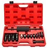 SUPERCRAZY 14PCS Diesel Injector Extractor Puller With Common Rail Adaptor Slide Hammer Removal