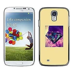 Be Good Phone Accessory // Dura Cáscara cubierta Protectora Caso Carcasa Funda de Protección para Samsung Galaxy S4 I9500 // yellow diamond purple poster gem