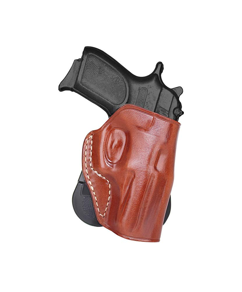 MASC HOLSTER Premium Leather OWB Paddle Holstr with Open Top Fits, Bersa  Thunder 380, Pro 9 CC, 40 Ultra Compact, 17RD HI Cap Pro, Right Hand Draw,