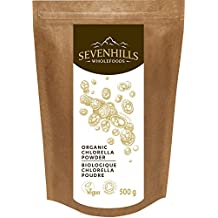 Sevenhills Wholefoods Organic Chlorella Powder, Broken Cell Wall 500 g Biologique Chlorella poudre, Soil Association certified organic