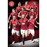 """Manchester United Player Collage 2014-2015 24""""x36"""" Art Print Poster"""