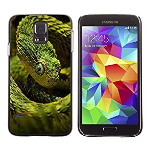 YOYO Slim PC / Aluminium Case Cover Armor Shell Portection //Cool Neon Green Snake //Samsung Galaxy S5