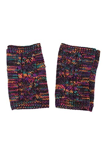 ScarvesMe CC Two Tone Double Layer Gloves with Tassel (Multi) by ScarvesMe (Image #2)