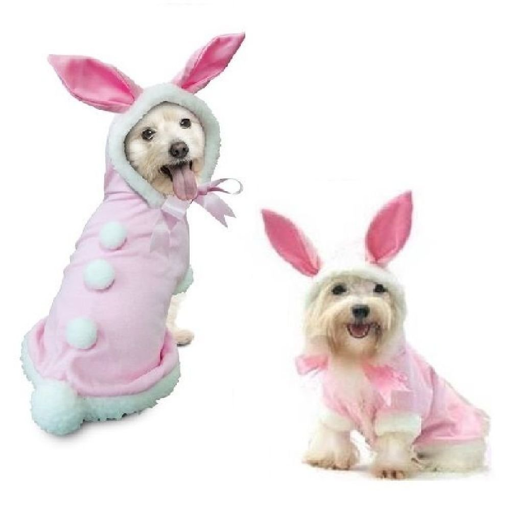 Dog Costume-Bunny Costumes Dress Your Dogs Like A Pink Rabbit
