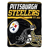 The Northwest Company Officially Licensed NFL Pittsburgh Steelers 40 Yard Dash Micro Raschel Throw Blanket, 46″ x 60″, Multi Color