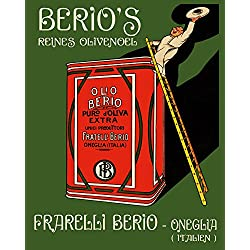 "Berio Olive Oil Cook Italy Italia Italian Food 16"" X 20"" Image Size SHIPPED ROLLED Vintage Poster Reproduction we have other sizes available"