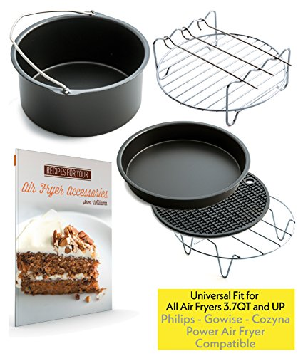 Air Fryer Accessories for Gowise Phillips and Cozyna, Set of 5, Fit all 3.7QT - 5.3QT - 5.8QT by Cozyna